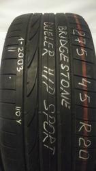 Продам б/у шины (2 шт.) Bridgestone Dueller H/P Sport 275/45R20